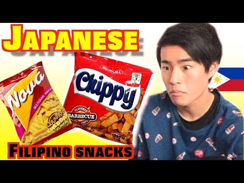 MY BROTHERS TRIES FILIPINO SNACKS FOR THE FIRST TIME!!!!