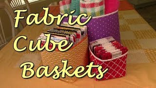Fabric Storage Cubes And Baskets | The Sewing Room Channel