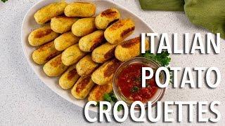 How To Make Italian Potato Croquettes
