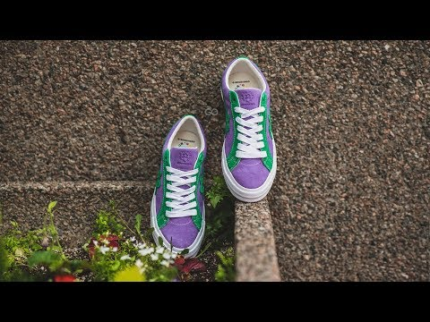 Converse Golf Le Fleur One Star Purple Heart Jolly Green Review On Feet