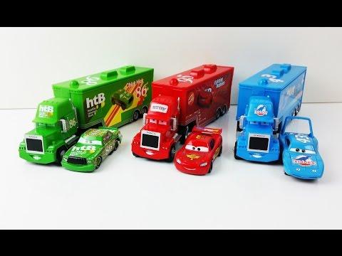 Lightning Mcqueen Disney Pixar Special Mack Truck and Disney Cars 2 Dinoco Chick Hicks toys for Kids