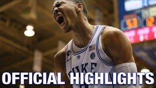 Jayson Tatum Official Highlights | Duke Forward