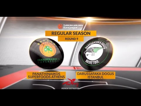 EuroLeague Highlights RS Round 9: Panathinaikos Superfoods Athens 86-80 Darussafaka Dogus Istanbul