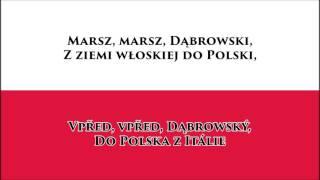 Polská hymna - Anthem of Poland (PL/CZ text)