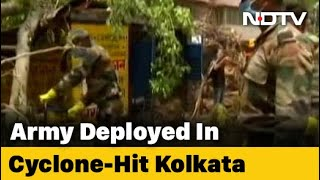 Army Helps In Kolkata But Protests Smoulder In Cyclone-Battered Bengal - Download this Video in MP3, M4A, WEBM, MP4, 3GP