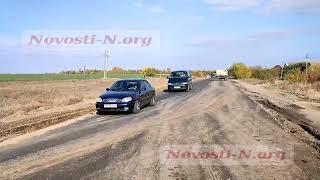 В Николаеве перевернувшийся мусоровоз полностью заблокировал трассу на Очаков
