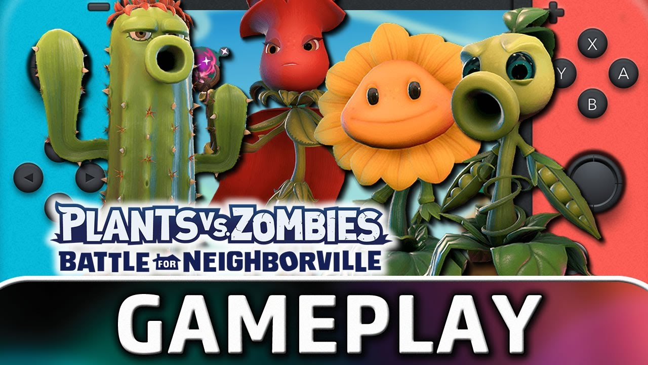 Plants vs. Zombies: Battle for Neighborville | Nintendo Switch Gameplay and Frame Rate