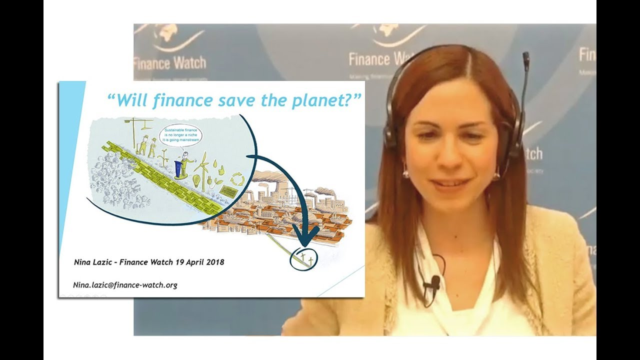 Finance Watch Will finance save the planet? A Finance Watch webinar