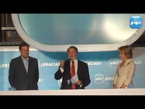 Jaime Mayor Oreja celebra el resultado de las Elecciones Europeas