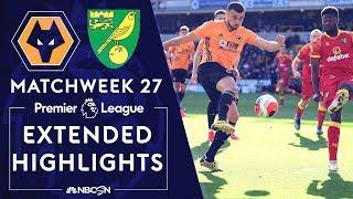 Wolves v. Norwich City | PREMIER LEAGUE HIGHLIGHTS | 2/23/2020 | NBC Sports