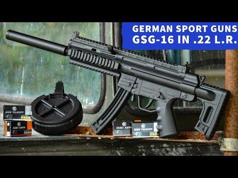 gsg: Vorstellung im Video: KK-Selbstlader in MP-Optik mit AR-Anleihen: GSG-16 von German Sport Guns in .22 l.r. HV