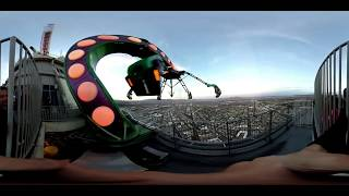U Never Seen Anything Like It: 8K 360 Degree Stratosphere Tower VR Amazing Jump From Space Elevator