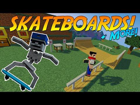 Skateboard Mod Adding Flip Tricks Next Minecraft Mod - Skins para minecraft 1 8 4
