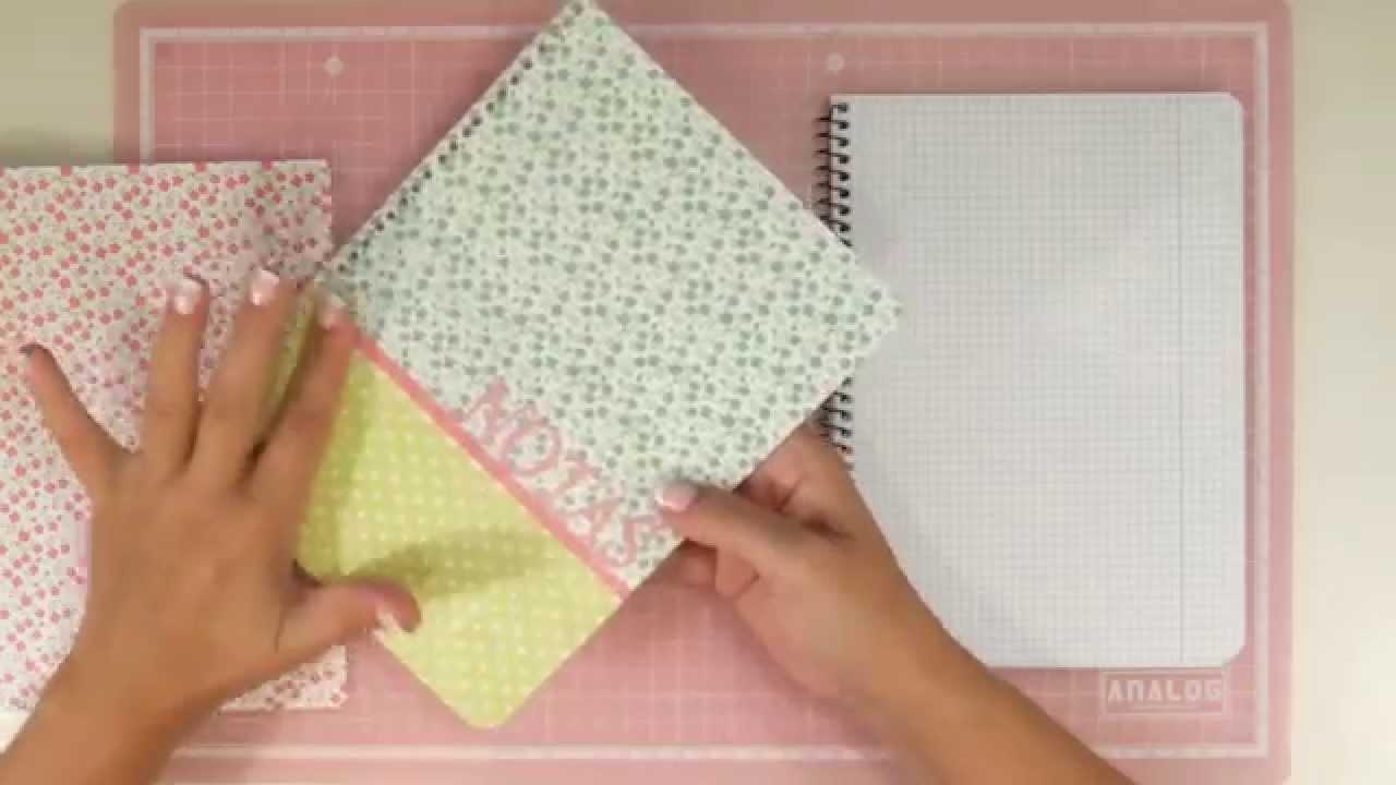 Cómo hacer una libreta con tapas intercambiables. La vuelta al cole 2015