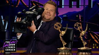 James Corden Celebrates His Emmy Winning Crew