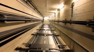 SHAFT VIEW! 2011 KONE MonoSpace MRL traction elevators @ Scandic Narvik, Narvik, Norway