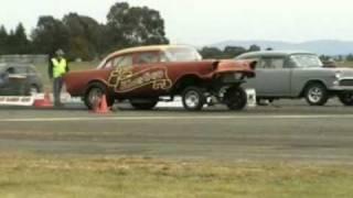 preview picture of video 'Ballarat nostalgia drag racing October '08'
