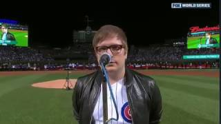 <b>Patrick Stump</b> Singing National Anthem Game 3 Of World Series  Newer Version Available