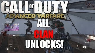 All Clan Unlocks in Advanced Warfare (Advanced Warfare Clan Info)
