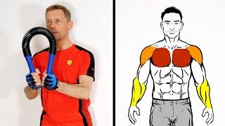 Brust Workout: 6 Biegehantel Übungen (Dips, Flies, Butterfly, Crossover) - Power Twister