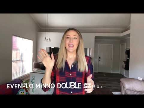 Evenflo Minno Double stroller unboxing & review!