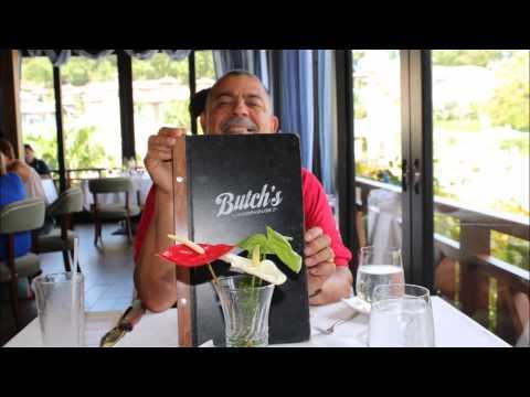 Sandal LaSource Grenada Butchs Chophouse Restaurant for lunch