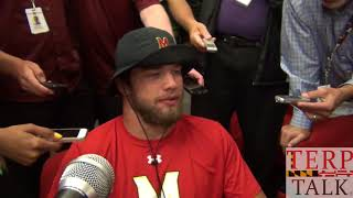 Maryland Football - Shane Cockerille, linebacker,  after Toswon