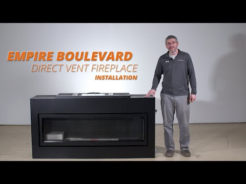 How to Install the Boulevard Direct Vent Fireplace