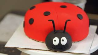 How To Add Eyes To A Ladybug Cake | Birthday Cakes