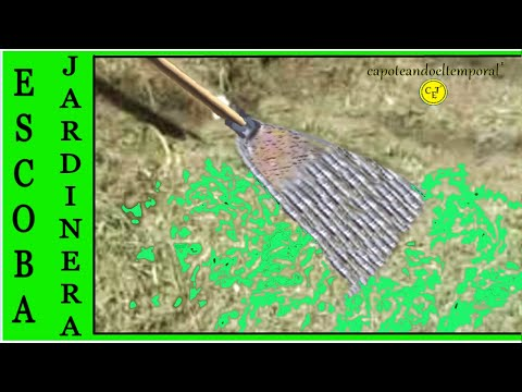 ESCOBA JARDINERA CASERA ( reciclando metál )( broom home gardener (recycling metal)