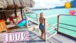 Bora Bora Overwater Bungalow Room Tour Four Seasons!!