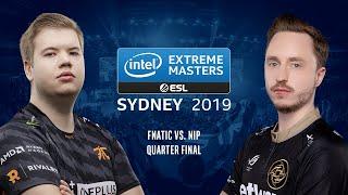 CS:GO - Fnatic vs. NiP [Cache] Map 1 - Quarter Final #2 - IEM Sydney 2019