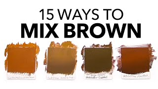 What Colors Make Brown? The Ultimate Guide To Mixing Brown