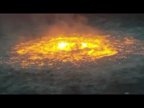 Massive 'eye of fire' burn in Gulf of Mexico