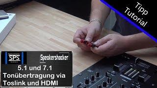 5.1 Tonübertragung mit Toslink oder HDMI