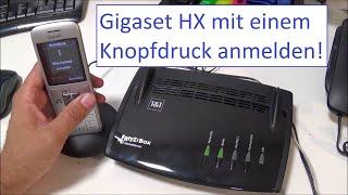 Gigaset HX Mobilteil in einer Minute mit Knopfdruck und ohne Menü mit der Fritzbox verbinden