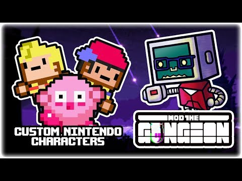 Custom Nintendo Characters Mods | Mod the Gungeon Showcase | Let's Play: Enter the Gungeon Modded