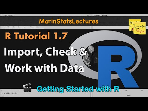 Importing Data and Working With Data in R (R Tutorial 1.6)