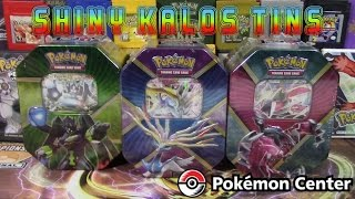 Pokémon Cards - Shiny Yveltal EX, Shiny Xerneas EX, & Zygarde EX Shiny Kalos Trio Tin Opening!