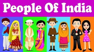 Indian People  | Traditional Dresses Of Indian States | Kid2teentv