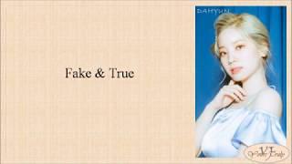 TWICE (트와이스) - Fake & True (Easy Lyrics)