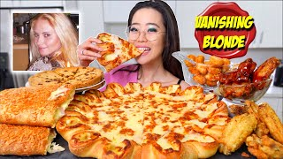 New! PIZZA HUT CHEESY CRUST CHEESE PIZZA + CHEEZY CALZONE & WINGS MUKBANG 먹방 | Eating Show