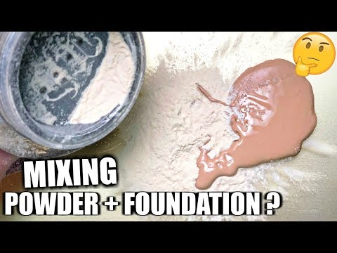 MIXING POWDER WITH FOUNDATION??  HIT OR MISS?