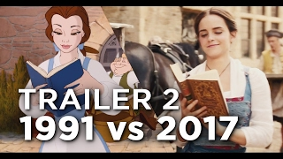 Beauty and the Beast Trailer 2 - 1991 vs 2017 Comparison/Side by Side