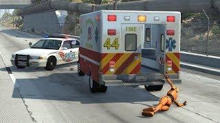 Crash Test Dummy - Ambulance Crashes | BeamNG.drive