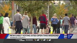 Central Indiana voters continue to shatter early voting numbers
