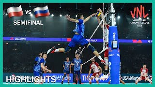 Poland Vs Russia | Highlights | 13 Jul | Semifinal | Men's VNL 2019