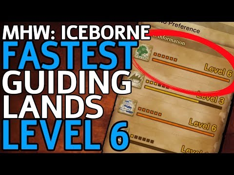 The FASTEST Way to Level Up the Guiding Lands! - MHW: Iceborne