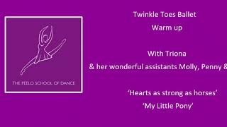 Twinkle toes warm up with Triona