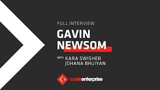 Full interview: Gavin Newsom, lieutenant governor of CA   Code Enterprise 2016